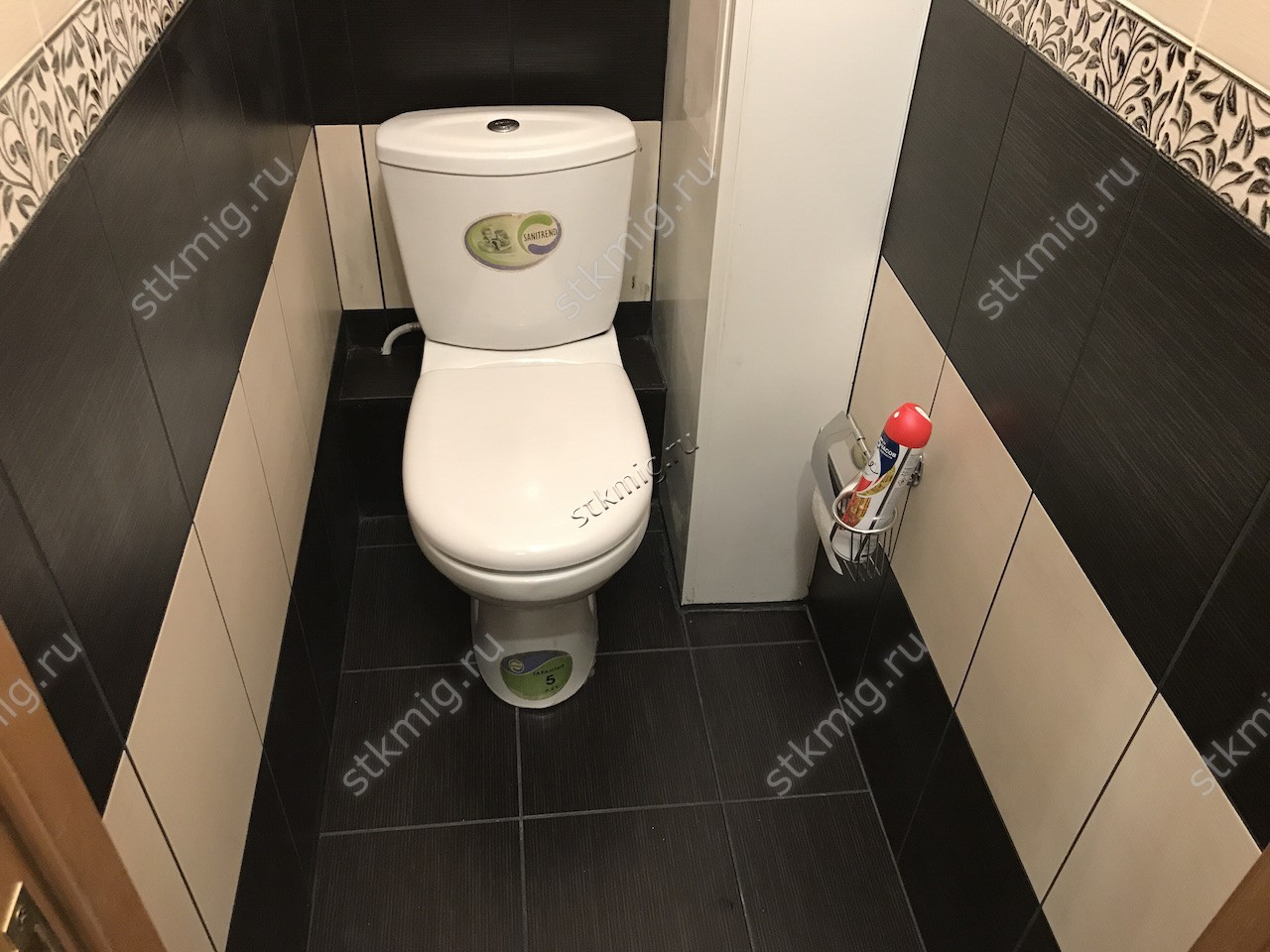 Идея для туалета 1 кв.м фото