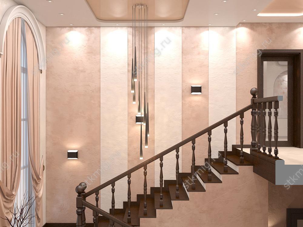 фото дизайн холла дома на втором этаже тогда