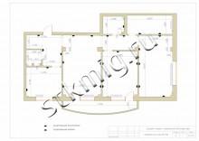 Схемы перепланировки трехкомнатной  - СТК Миг Ремонт квартир в Екатеринбурге