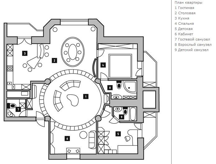Проект квартиры план