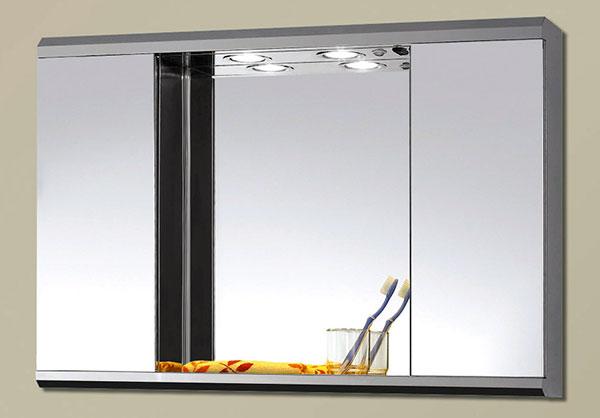 Установка зеркального шкафа