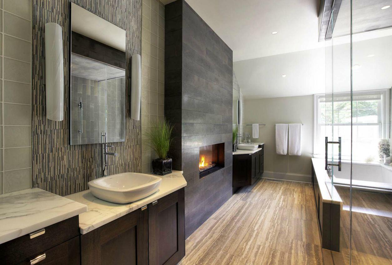 Обустройство ванной комнаты в доме