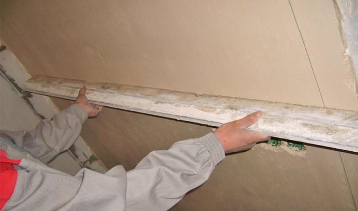 Выравнивание стен, потолка
